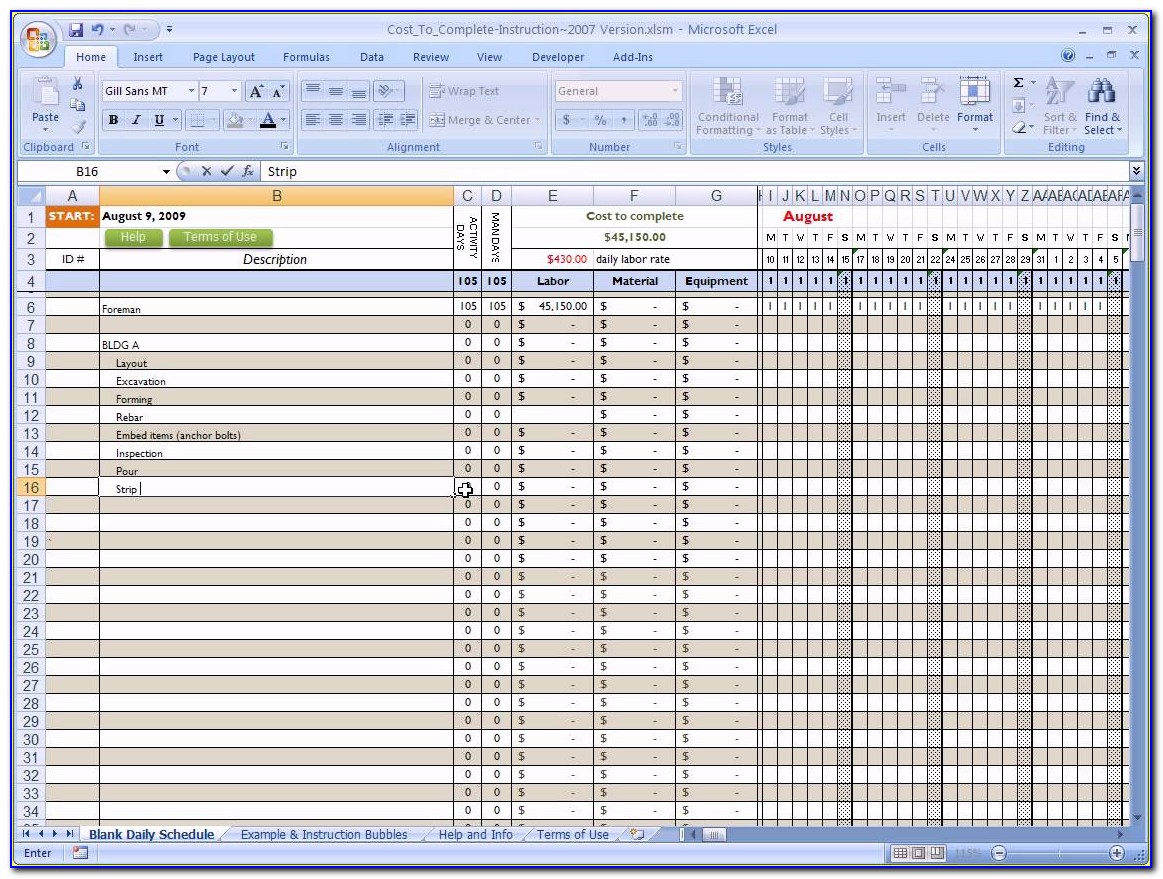 Free Commercial Construction Cost Estimate Excel Template
