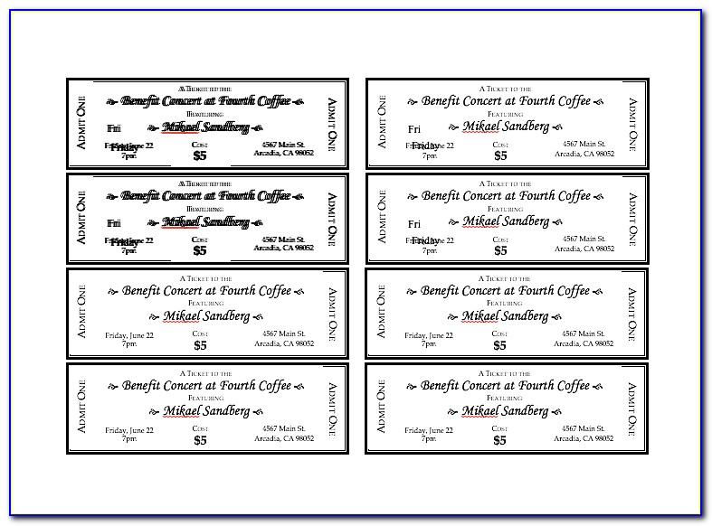 Free Event Ticket Template Psd
