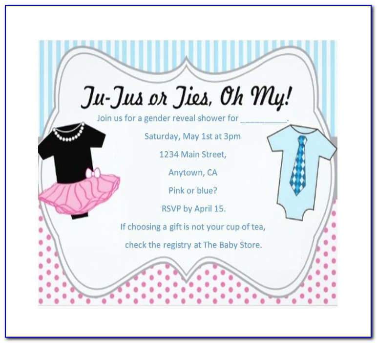 Free Gender Reveal Invitation Template Download