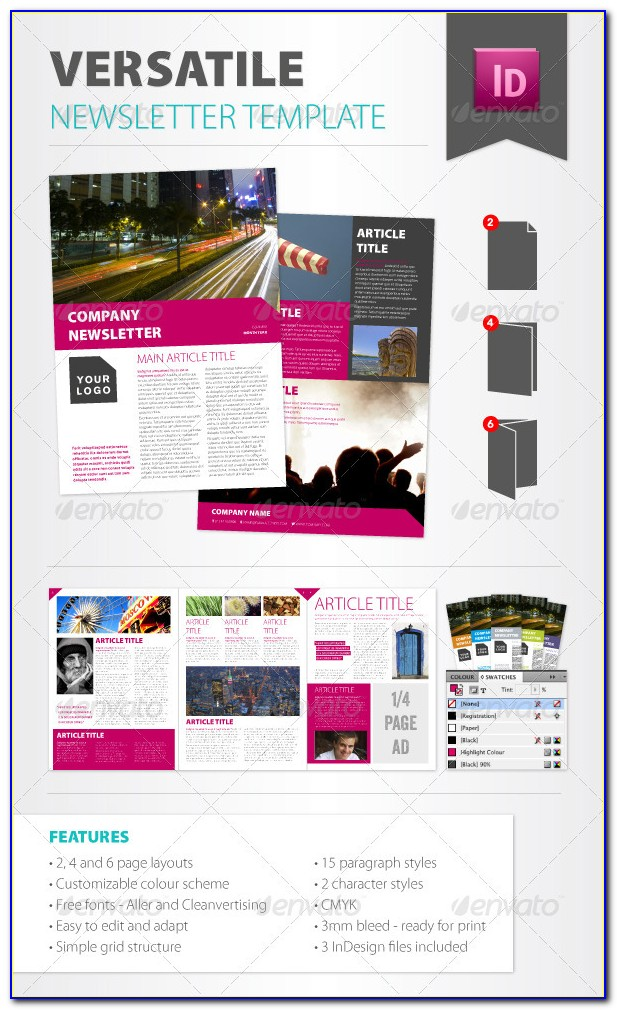 Free Indesign Newsletter Templates Cs6