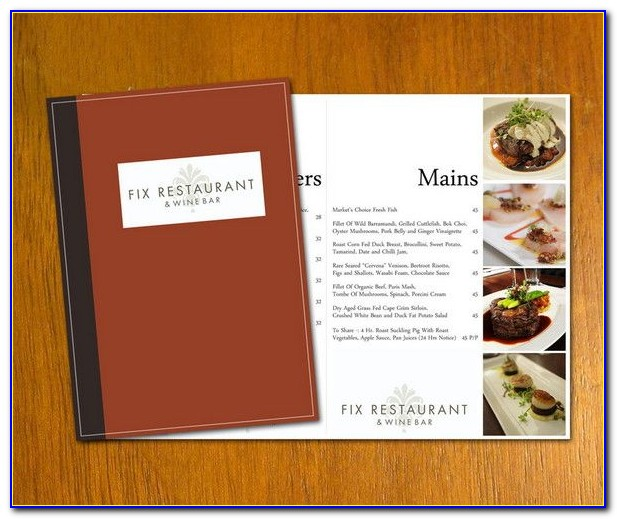 Free Menu Design Templates Online