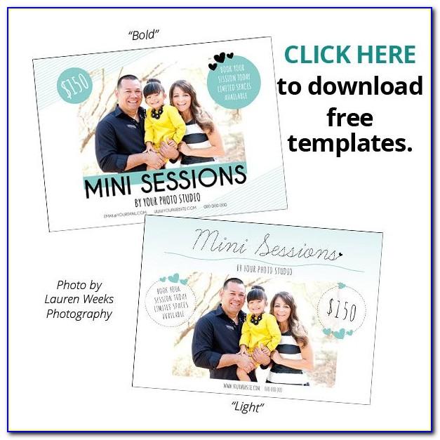 Free Mini Session Templates For Photoshop