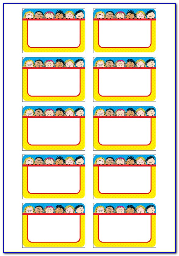 Free Name Tag Template For Kindergarten