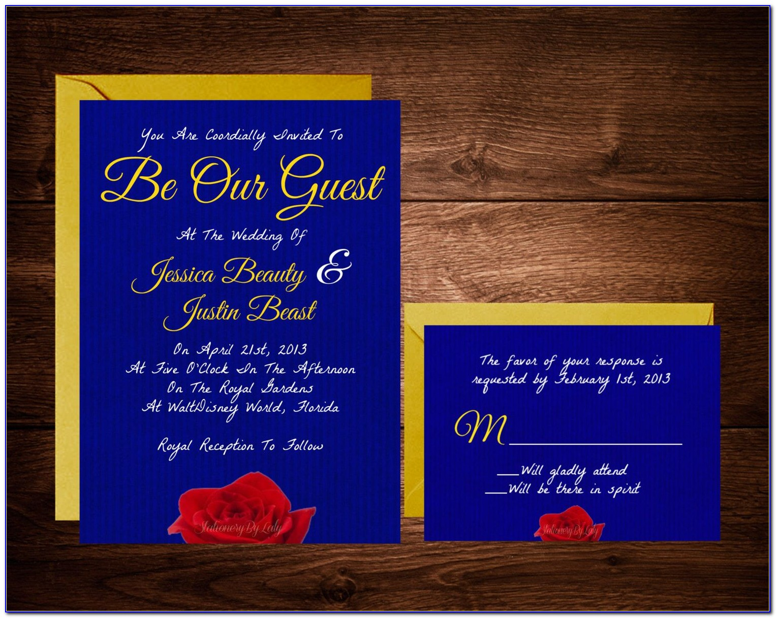 Free Printable Beauty And The Beast Invitation Templates