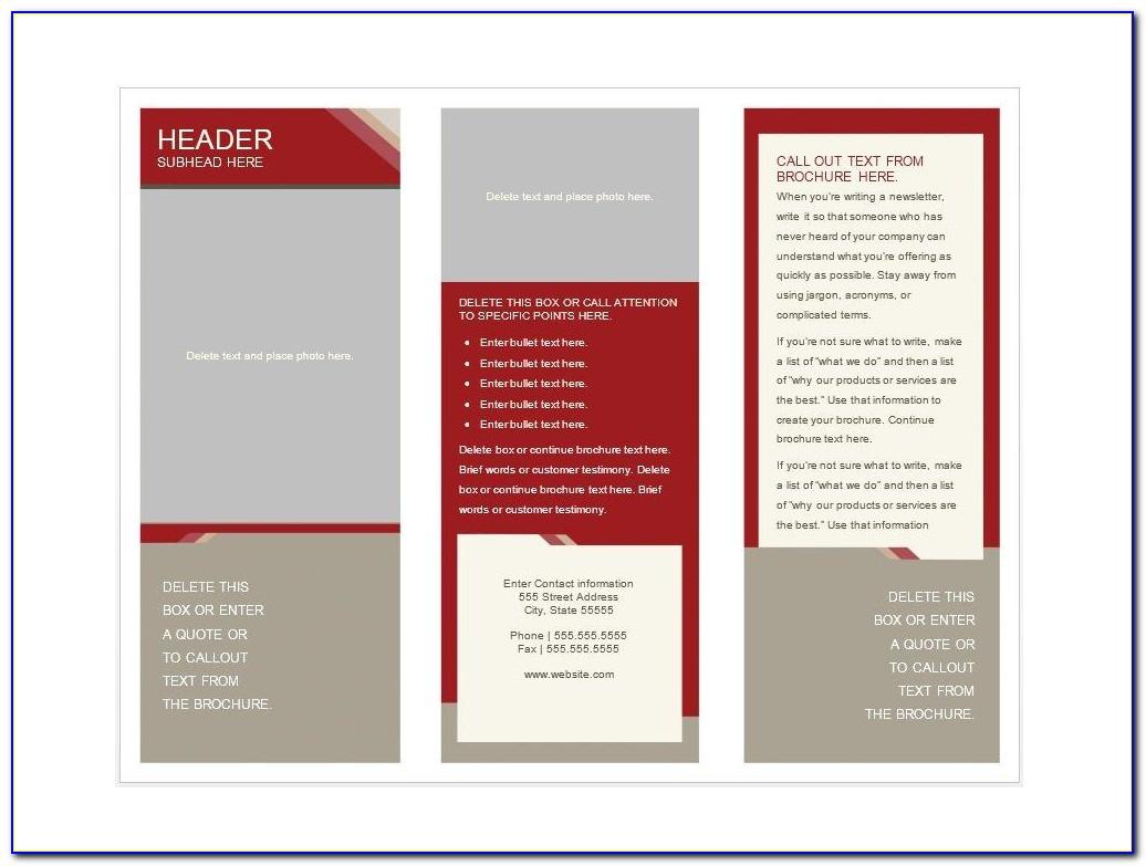 Free Printable Brochure Template