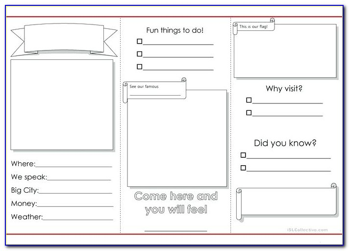 Free Printable Brochure Templates For School Project