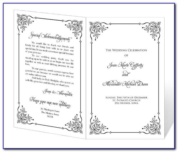 Free Printable Peacock Wedding Program Templates