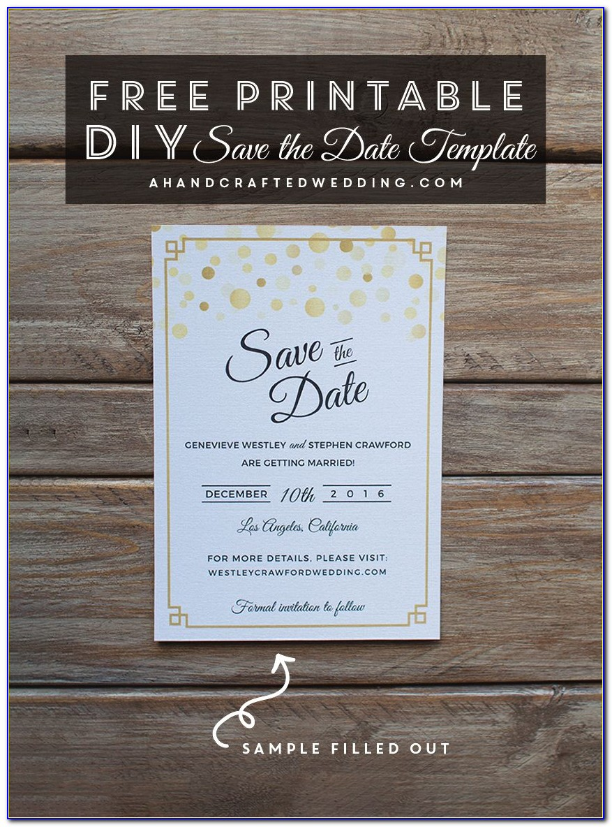 Free Printable Save The Date Invitations