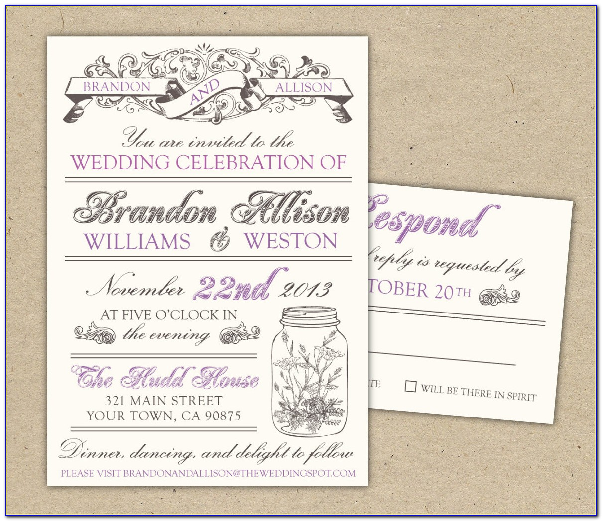 Free Printable Wedding Invitation Templates Floral