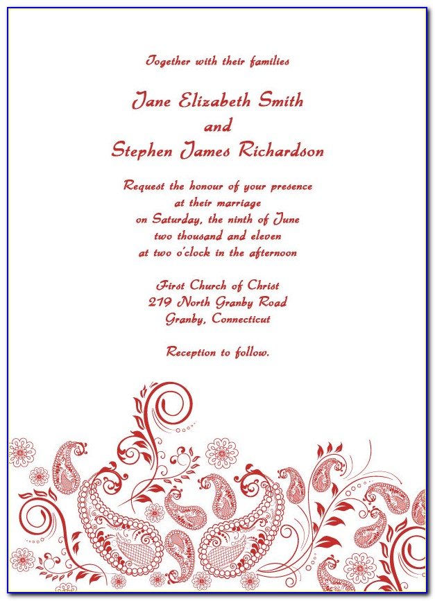 Free Printable Wedding Invitation Templates For Publisher