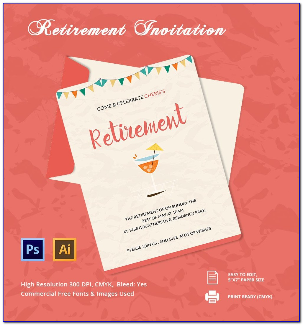 Free Retirement Invitation Template Microsoft Word