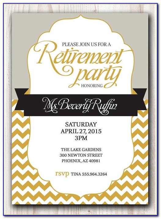 Free Retirement Party Invitation Templates For Publisher