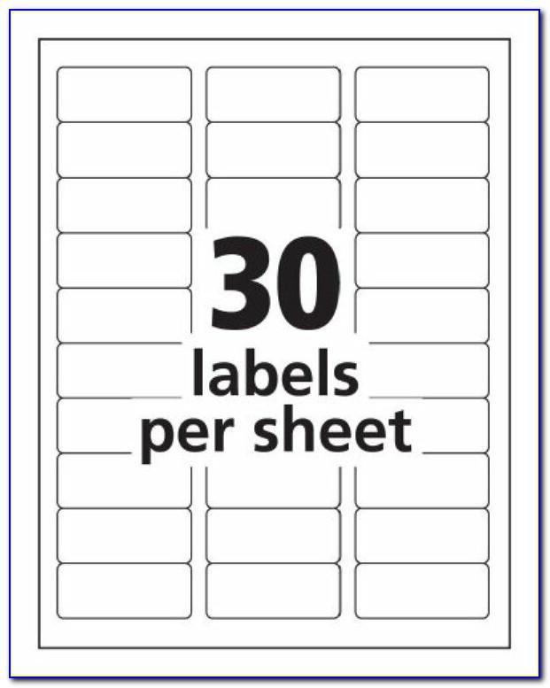 Free Return Address Label Templates 30 Per Sheet