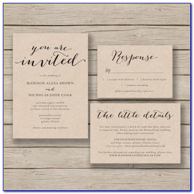 Free Rustic Wedding Invitations Templates