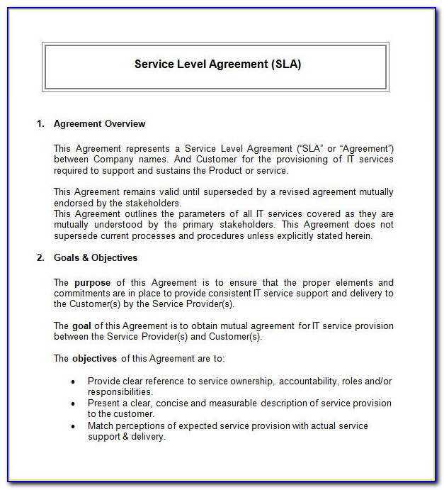 Free Service Agreement Template Word