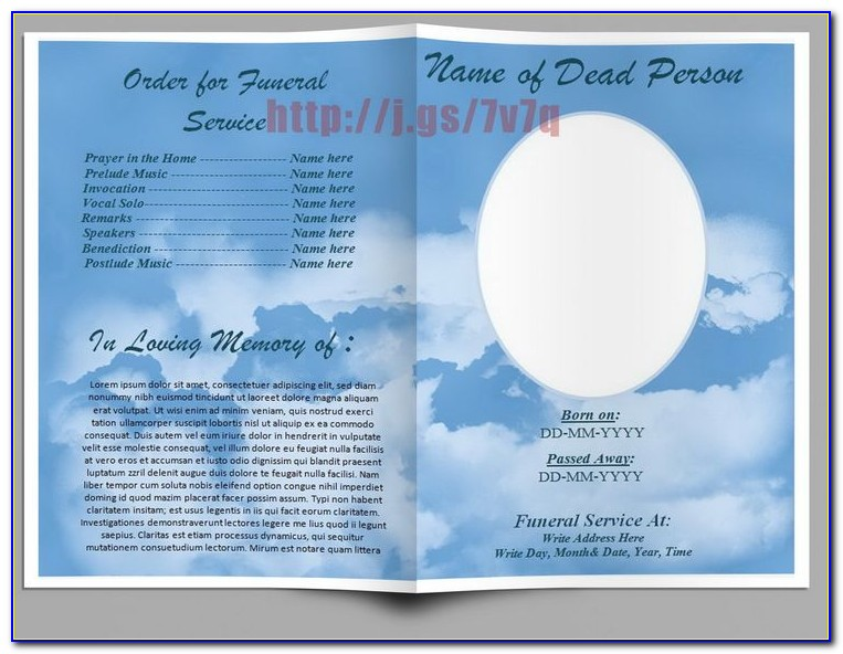 Free Simple Funeral Program Template Download