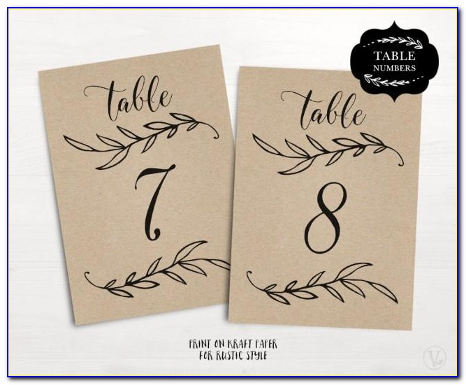 Free Table Number Template
