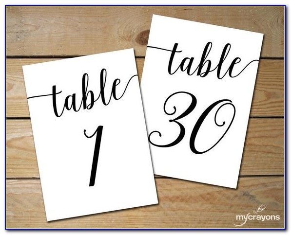 Free Table Number Templates For Word