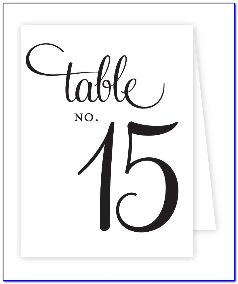Free Table Number Templates Microsoft Word