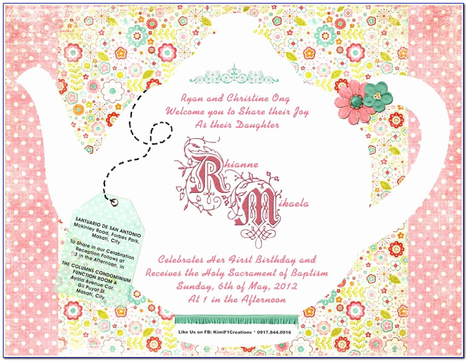 Tea Party Invitation Template Design Vintage Party Invitation Templates Lovely Pdf Word Excel Download Templates Paete