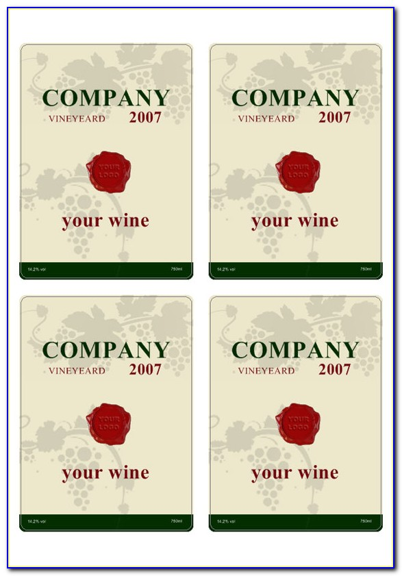Free Wine Label Template Psd