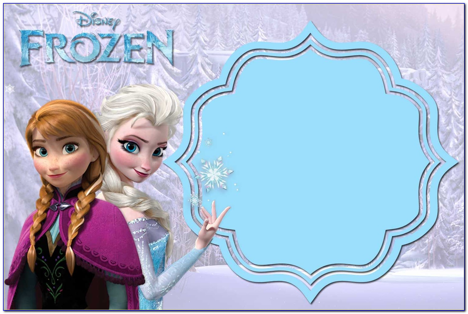 Frozen Invitation Templates Free