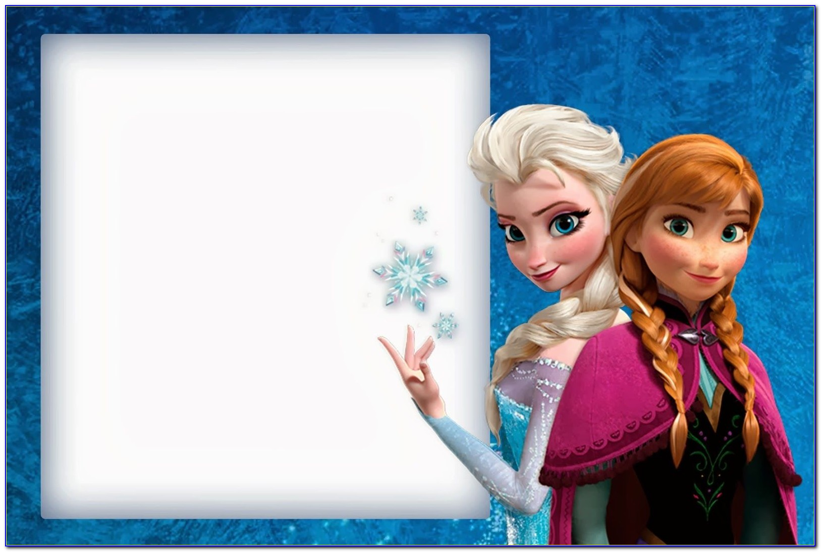 Frozen Invitation Templates