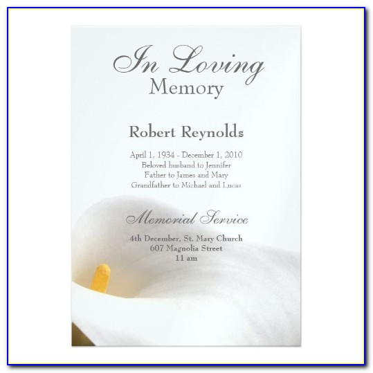 Funeral Announcement Template For Facebook
