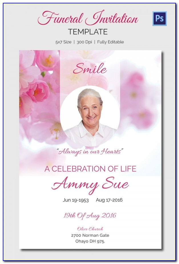 Funeral Announcement Template Uk