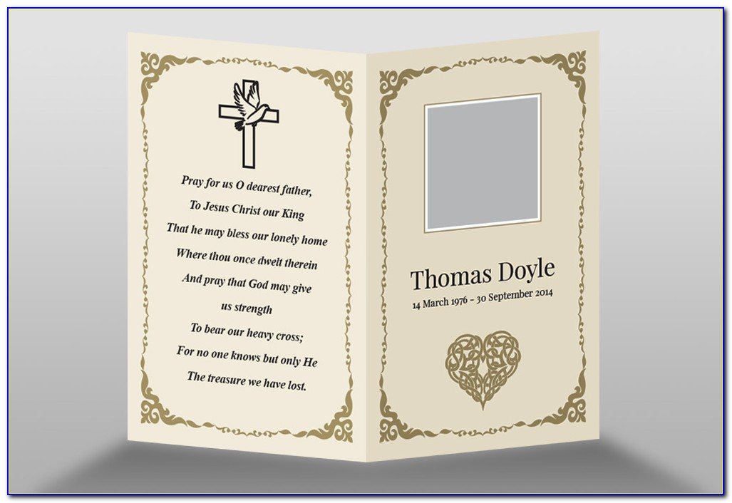 Funeral Card Template Word Free