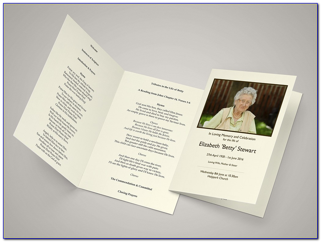 Funeral Order Of Service Template Download