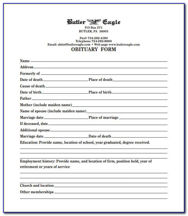 Funeral Order Of Service Template Word Free