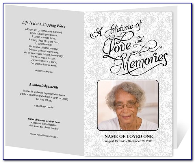 Funeral Pamphlet Template Photoshop