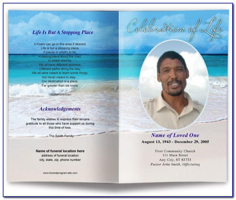 Funeral Program Templates Word