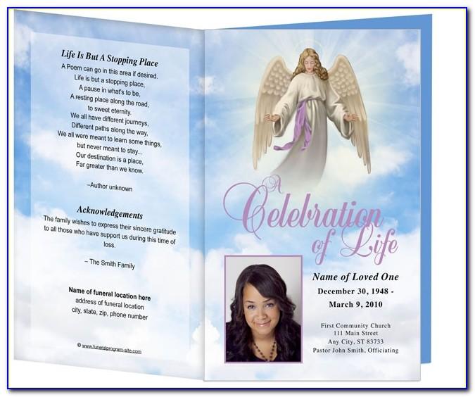 Funeral Programs Templates Fold