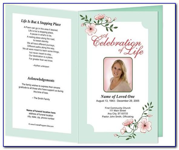 Funeral Programs Templates Pdf