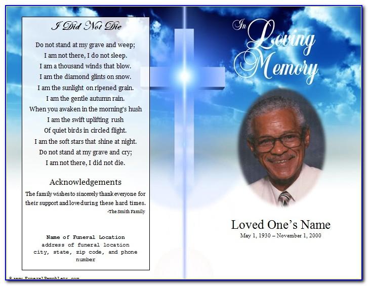 Funeral Service Program Layout