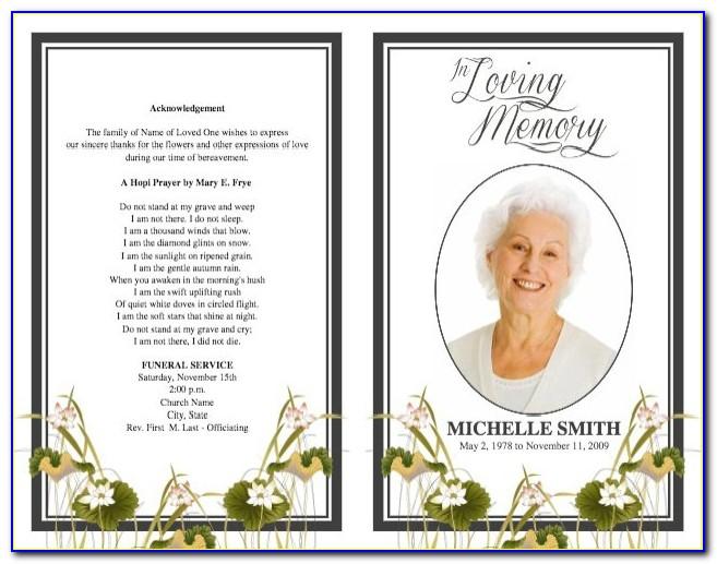 Funeral Service Program Samples