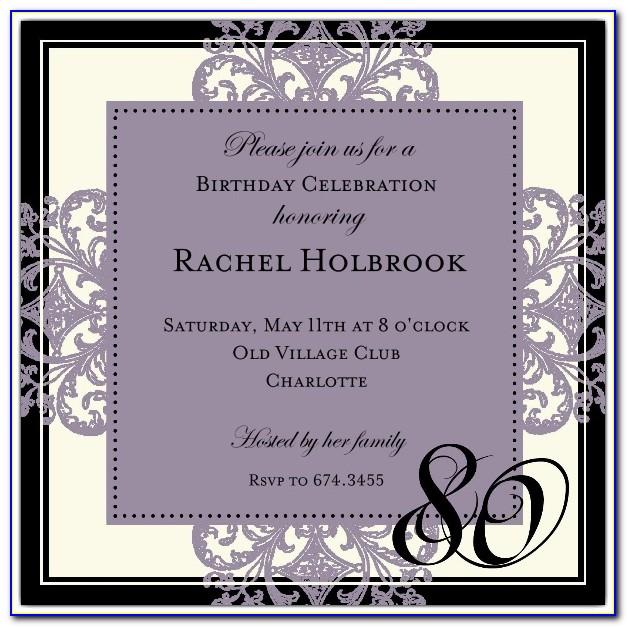 Funny 80th Birthday Invitations Templates