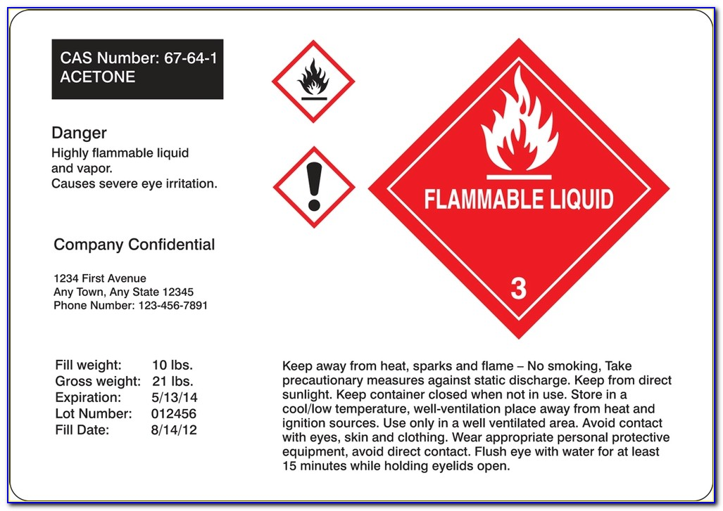 Ghs Label Template Malaysia