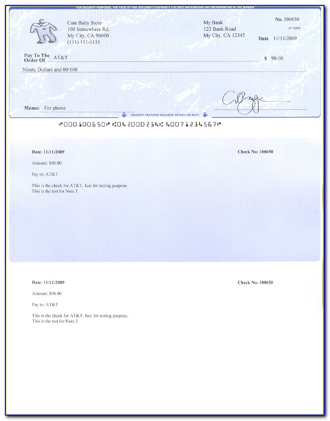 Giant Fake Check Template