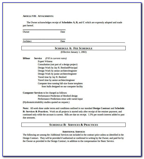 Graphic Design Retainer Contract Template