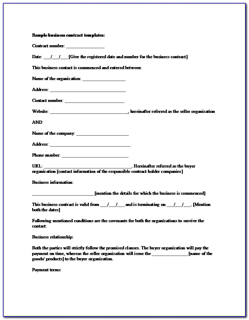 Graphic Design Work Contract Template