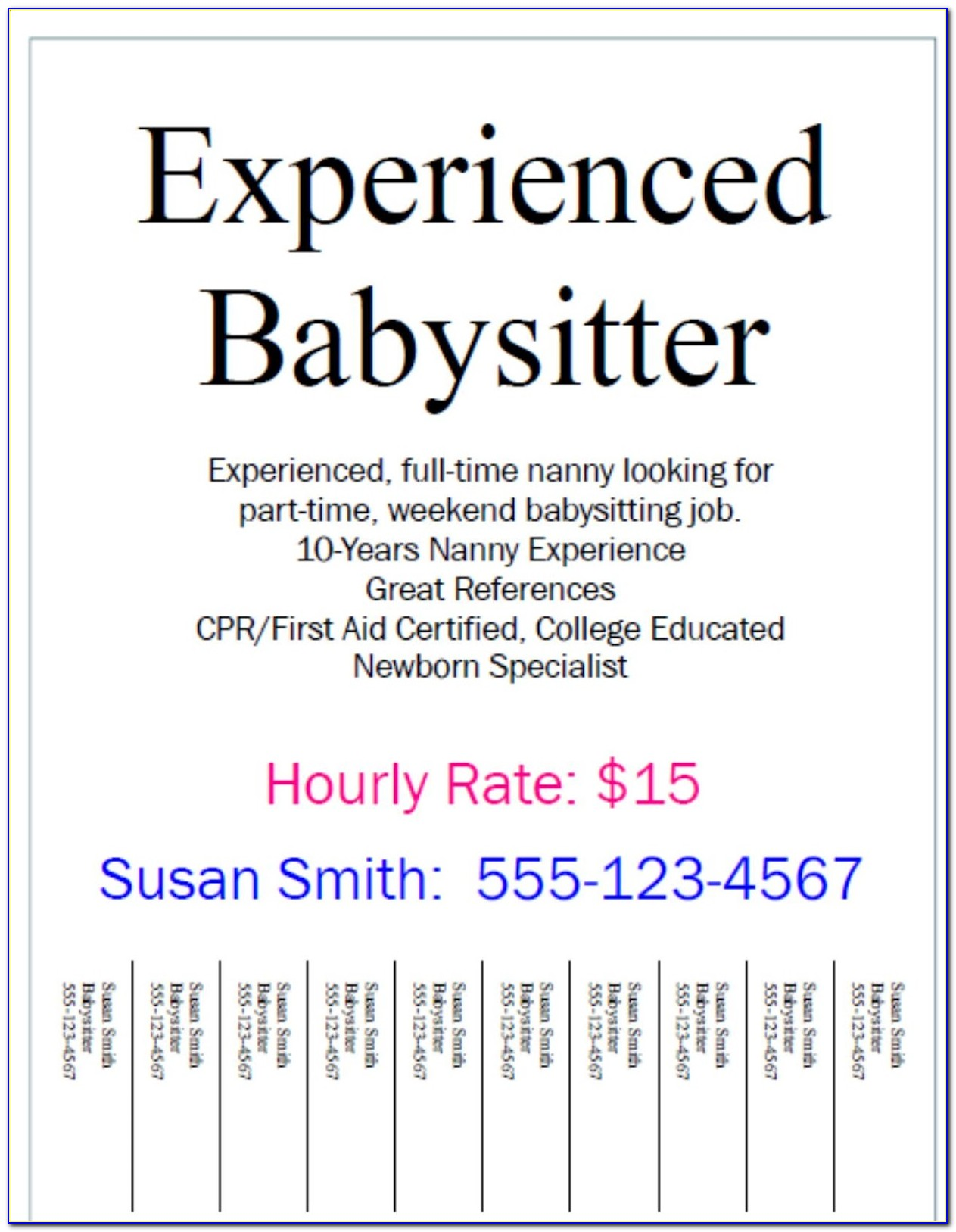 Help Wanted Ad Template Free