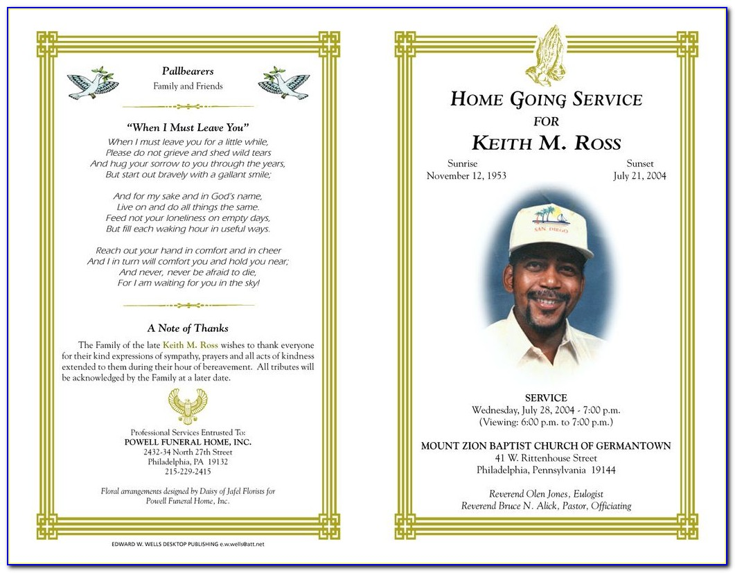 Homegoing Program Template