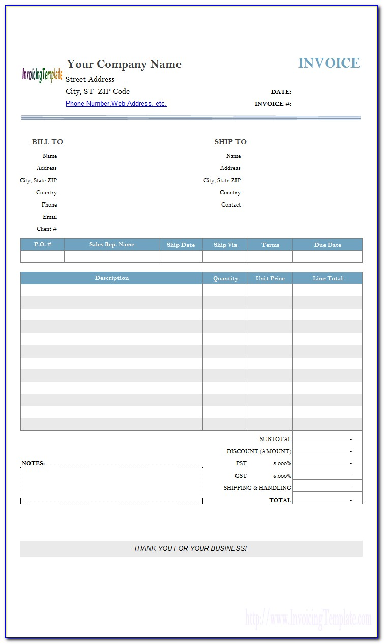 Hourly Invoice Template Word