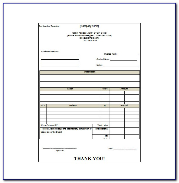 Invoice Receipt Template Html