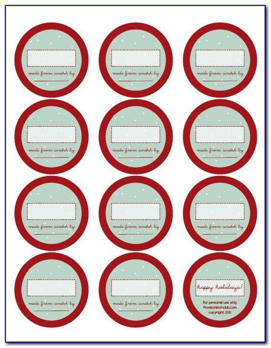 Jar Label Design Template