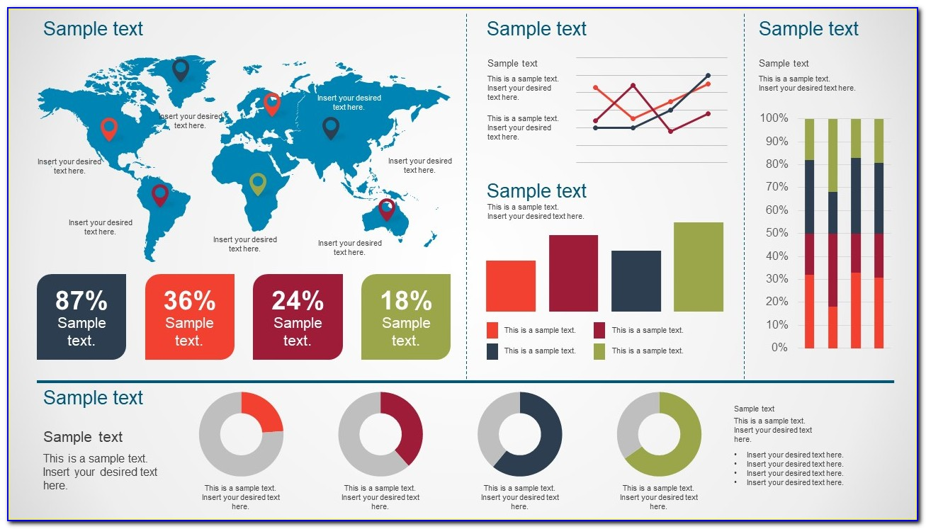 Kpi Dashboard Powerpoint Template Free Download