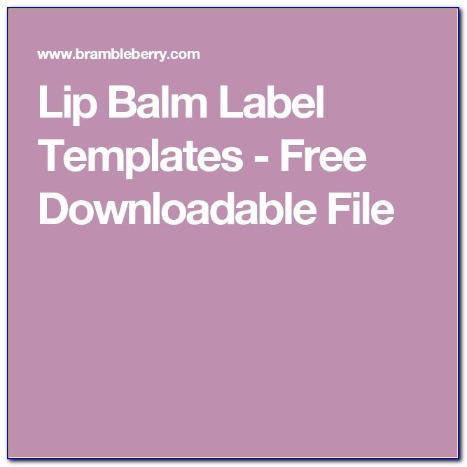 Lip Balm Label Template Free